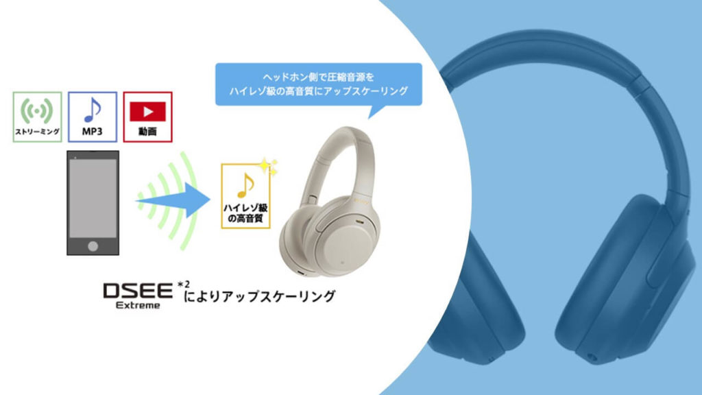 WH-1000XM4、音質アップスケーリングDSEE HX→Exreameに!